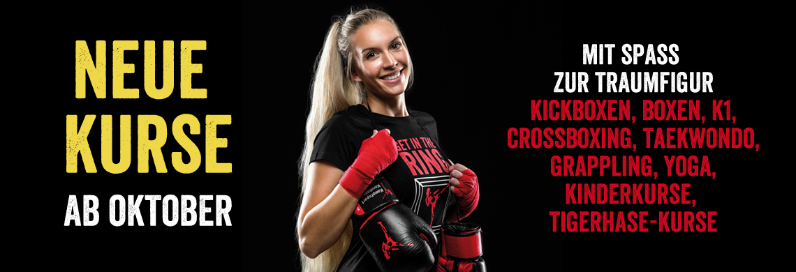 Neue Kurse Cross-Boxing + Kinderkickboxen